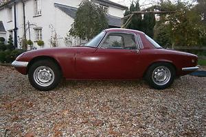 Lotus Elan S3 FHC 1967-Engine out, fitted Lotus Galvanised Chassis Project Car