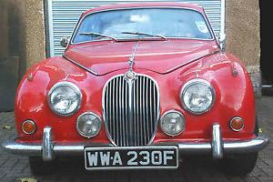 1968 JAGUAR 240 manual overdrive RED