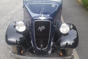 1936 Austin Ruby 7, Post Vintage Car, Blue over Black,