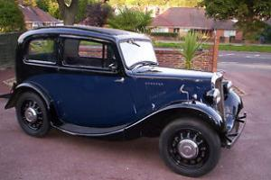 1936 MORRIS BLACK. blue sides and interior.