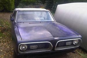 1969 Rare PLYMOUTH Barracuda 5.2l Convertible RHD for restoration