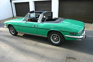 Triumph Stag. 1975 V8 manual with overdrive. matching numbers. very low miles