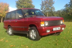 1987 ROVER RANGE ROVER VOGUE CLASSIC V8 3.5 EFI AUTO RED. LONG T