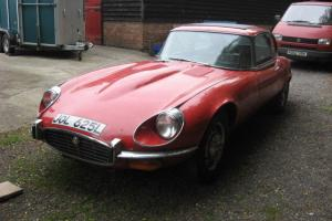 E-type Jaguar V12 manual 1973 in need of restoration
