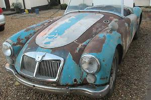 mga roadster lhd for full restoration runs drives stops