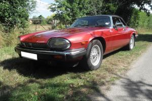 1991 JAGUAR XJ-S CONVERTIBLE AUTO RED 5.3 V12  Photo