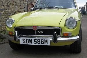MGB GT V8 Factory model 4.6, Chrome bumper. Modified.