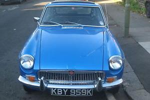 1971 MGB GT AUTOMATIC MET BLUE TAX EXEMPT.