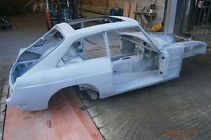 Classic MGB GT New old stock bodyshell chrome bumper restoration project