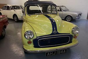 1958 MORRIS MINOR PRIMROSE CONVERTIBLE YELLOW BLUE ROOF STUNNING MANY UPGRADES