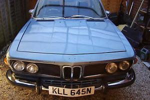 1974 BMW 3.0 CSA AUTO BLUE , NOW WITH FRONT PHOTOS , AND RUNS / DRIVES