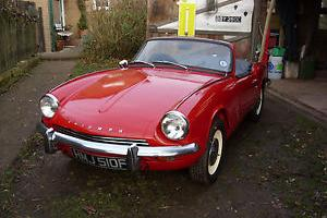 TRIUMPH SPITFIRE MK3 1 PREVIOUS OWNER 12 MONTHS MOT TAX EXEMPT