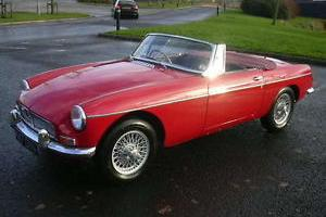 MGB Roadster, 1963, Pull Handle, Wire Wheels, Chrome Bumpers, Matching Numbers Photo