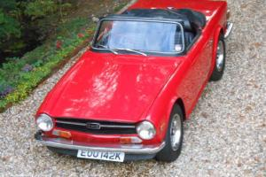 1972 TRIUMPH TR6 Pi RED 150bhp Uk Matching numbers example TAX FREE Photo