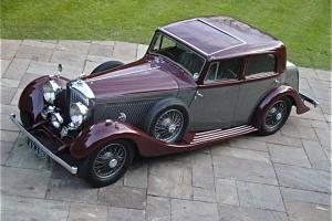 "1934 BENTLEY 3 1/2 litre ""DERBY"" Park Ward Aluminum SPORTS SALOON May Px Photo"