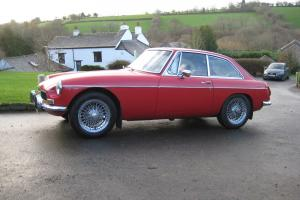 "MGB GT 1972, 15"" Chrome Wire Wheels, Red, Leather interior, 1 Previous Owner Photo"
