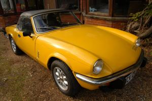 1981 (W) TRIUMPH SPITFIRE 1500 CONVERTIBLE 5-Speed Manual Inca Yellow