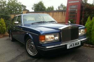 1991 J ROLLS ROYCE SILVER SPIRIT 2 Blue Bentley Turbo R Brooklands Silver Spur Photo