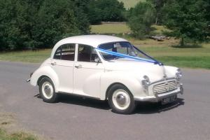 1959 morris minor 4-door in old english white (perfect wedding car)