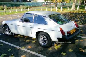 MGB GT 1979 finished in stunning White. Great condition with amazing history. Photo