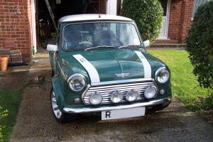 Classic Rover MINI COOPER Sport - Multi Coloured Green & White