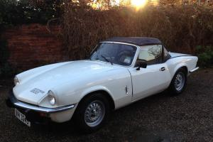 1978 Triumph Spitfire 1500 White classic sports car convertible