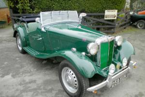 MG TD (1953) in Woodland Green with green leather interior - superb