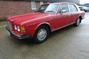 1988 Bentley Mulsanne 6.8 automatic 4 door saloon red
