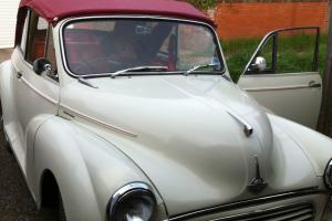 MORRIS MINOR CONVERTIBLE 1000 WHITE