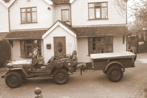 1942 WILLYS MB JEEP + TRAILER