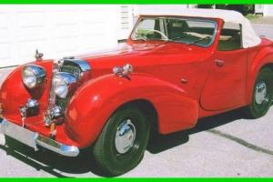 1949 Triumph 2000 Roadster Convertible with Dickie Seats Photo