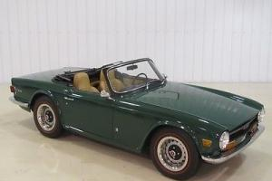 1972 Triumph TR-6 w/ OVERDRIVE-4 Speed Manual 2-Door Convertible