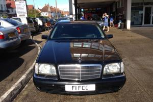 1998 MERCEDES S320 LIMO AUTO BLACK PETROL/LPG, LOW MILEAGE ONLY 75,000 miles