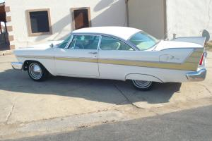 57 Plymouth Fury--2 Fours-auto--Factory Hotrod