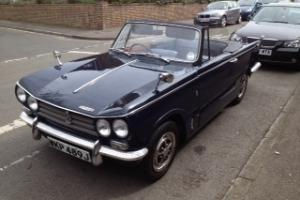 Triumph Vitesse Mk. 2. 1971. Royal Blue. Fun Classic Car.  Photo