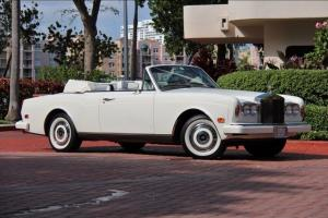 1988 ROLLS ROYCE CORNICHE WHITE ONLY 14K MILES! WHITE LEATHER SHOWROOM