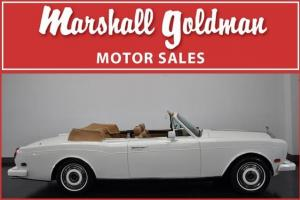 1987 ROLLS ROYCE CORNICHE II WHITE/TAN MAJOR SERVICE DONE ONLY 29,900 MILES