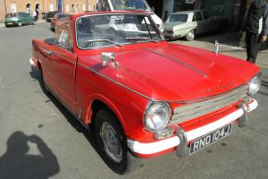 TRIUMPH HERALD 13/60 CONVERTIBLE12 MONTHS TAXED AND 12 MONTHS MOT