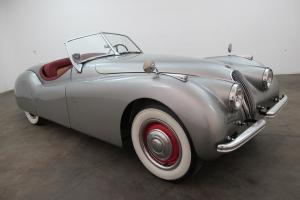 1953 Jaguar XK120 Roadster, birch grey, beautiful color combo, ready to drive Photo