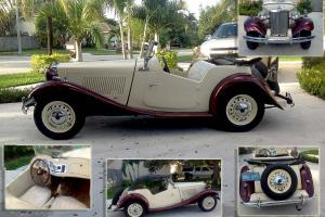 1953 MG TD. CONVERTIBLE, DOS PLAZA ENE QUE VER. Photo