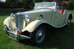 MG TD 1950 Original RHD Cream Coachwork Red Hide Full restored