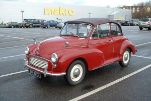 1961 MORRIS MINOR CONVERTIBLE 12 MONTHS MOT 12 MONTH TAX SAME OWNER 25 YEARS!!