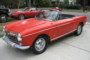 VINTAGE 1966 FIAT 1500 CABRIOLET PROJECT RUNS DRIVES ALFA ABARTH CONVERTIBLE