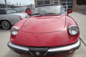 1987 Alfa Romeo Spyder veloce 5speed 76k Good Condition Salvage History