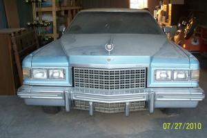 1976 cadillac deville low miles blue 4-door one owner great condition big car