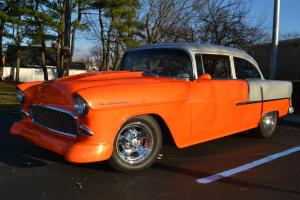 1955 CHEVY SUPER NICE ZZ4 4 SPEED ,LEATHER,POWER BRAKES, TRUE AMERICAN HOT ROD