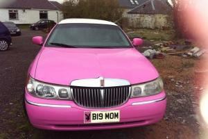 Pink Lincoln town car limousine 8 seater