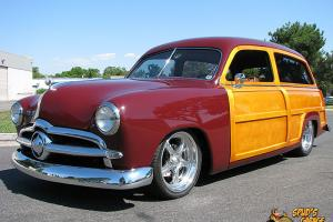 """1949 Ford Woody Wagon Super Charged LS-1 4L60E Ford 9"""" Kugel 4-Disc A/C Leather"""