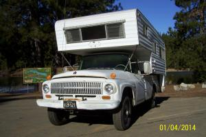 1966 IHC International 1200 4x4 3/4 ton truck and camper rebuilt engine AC in CA