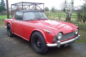 TRIUMPH TR4A,IRS,1966,ORIGINAL UK CAR,SURREY HARDTOP,NEEDS RESTORATION